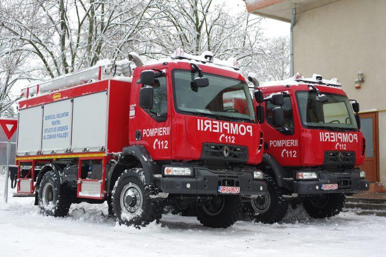 În perioada 14-16.01.2019 au fost livrate trei autospeciale de stins incendii către Serviciile Voluntare pentru Situaţii de Urgenţă ale comunelor ODOREU, HALMEU şi PĂULEŞTI din judeţul SATU MARE.